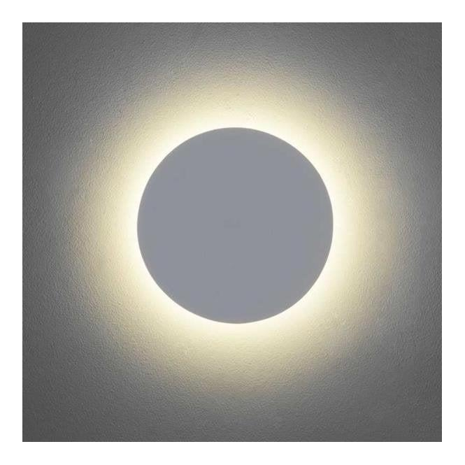 Astro Lighting Astro Eclipse Round 250 Modern Minimalist LED Wall Light in Plaster Finish 7249