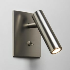 Astro Enna Square Switched LED Matt Nickel Wall Reading Light 7362