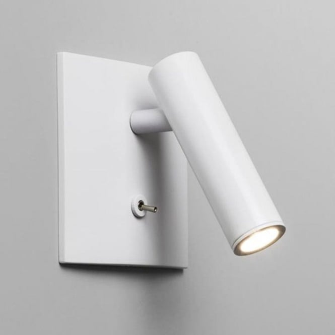 Astro Lighting Astro Enna Square Switched LED White Wall Reading Light 7360
