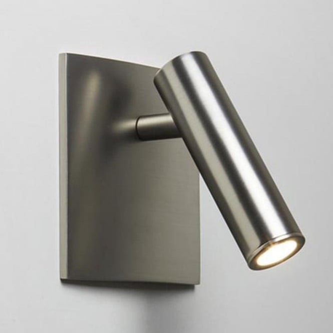 Astro Enna Square Unswitched Led Matt Nickel Wall Reading Light 7402 Lighting From The Home Lighting Centre Uk