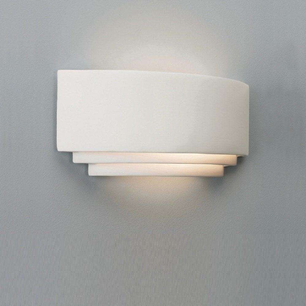 astro lighting 0423 amalfi art deco plaster ceramic wall light