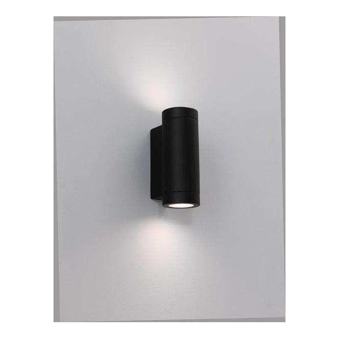 0626 Porto Plus Low Energy Twin Black Exterior Wall Light