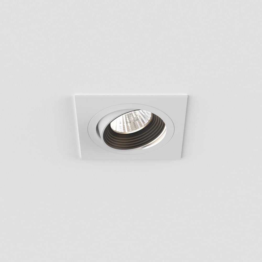 Astro lighting aprilia square adjustable 3000k led recessed ceiling aprilia square adjustable 3000k led recessed ceiling light in matt white finish 5751 mozeypictures Image collections