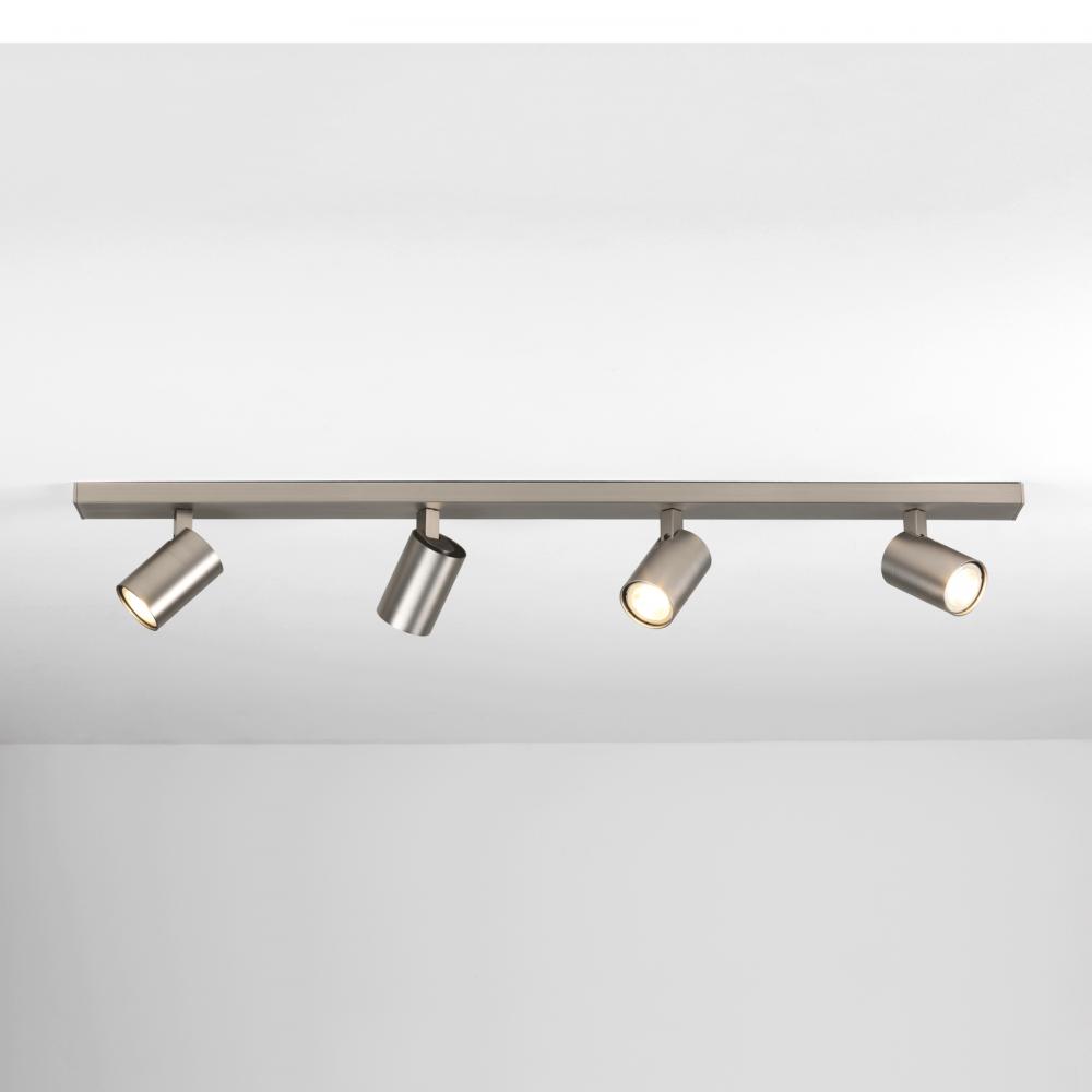 modern spot lighting. Ascoli Modern 4 Light Bar Spot In Matt Nickel Finish 7954 Lighting H