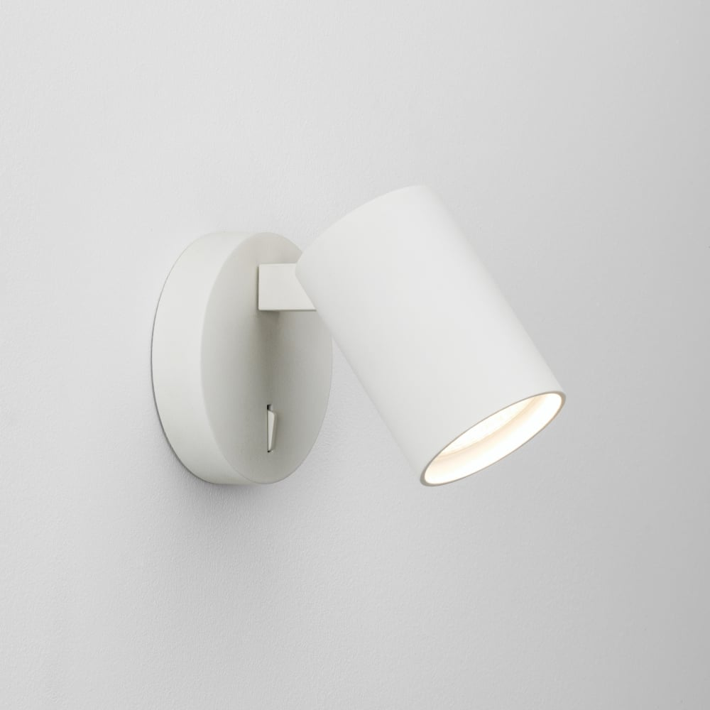 Astro lighting ascoli modern single switched wall spotlight in white ascoli modern single switched wall spotlight in white finish 7940 aloadofball Image collections