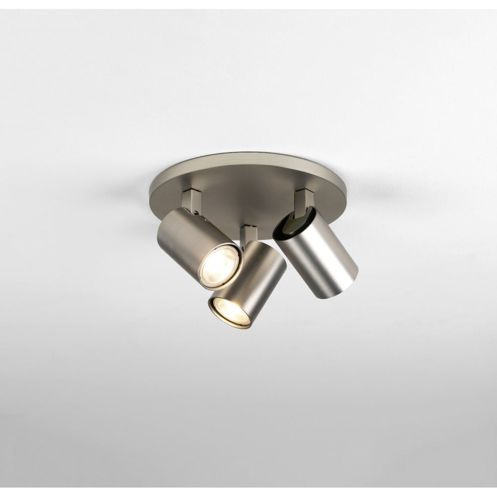 Entzückend Nickel Matt Ideen Von Ascoli Triple Plate Ceiling Spotlight In Finish