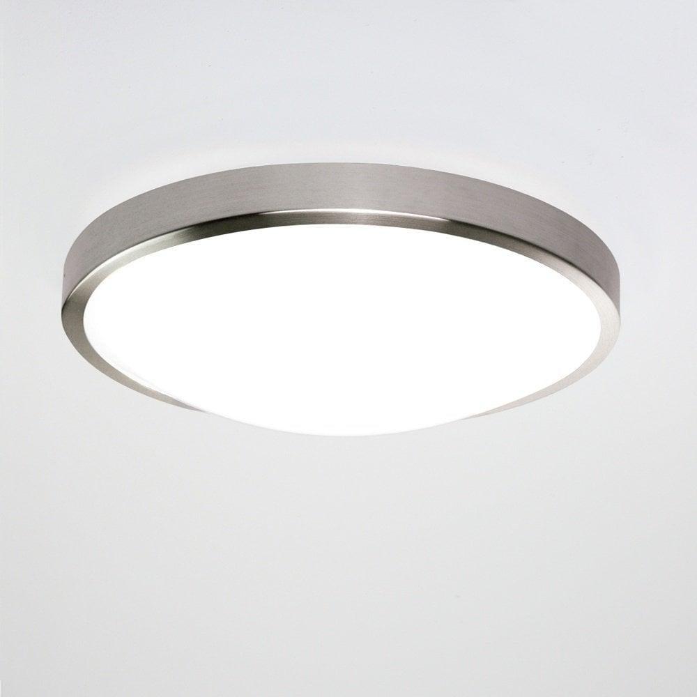 Astro Lighting Astro Osaka LED Motion Sensor Flush Brushed - Brushed nickel bathroom ceiling light fixtures