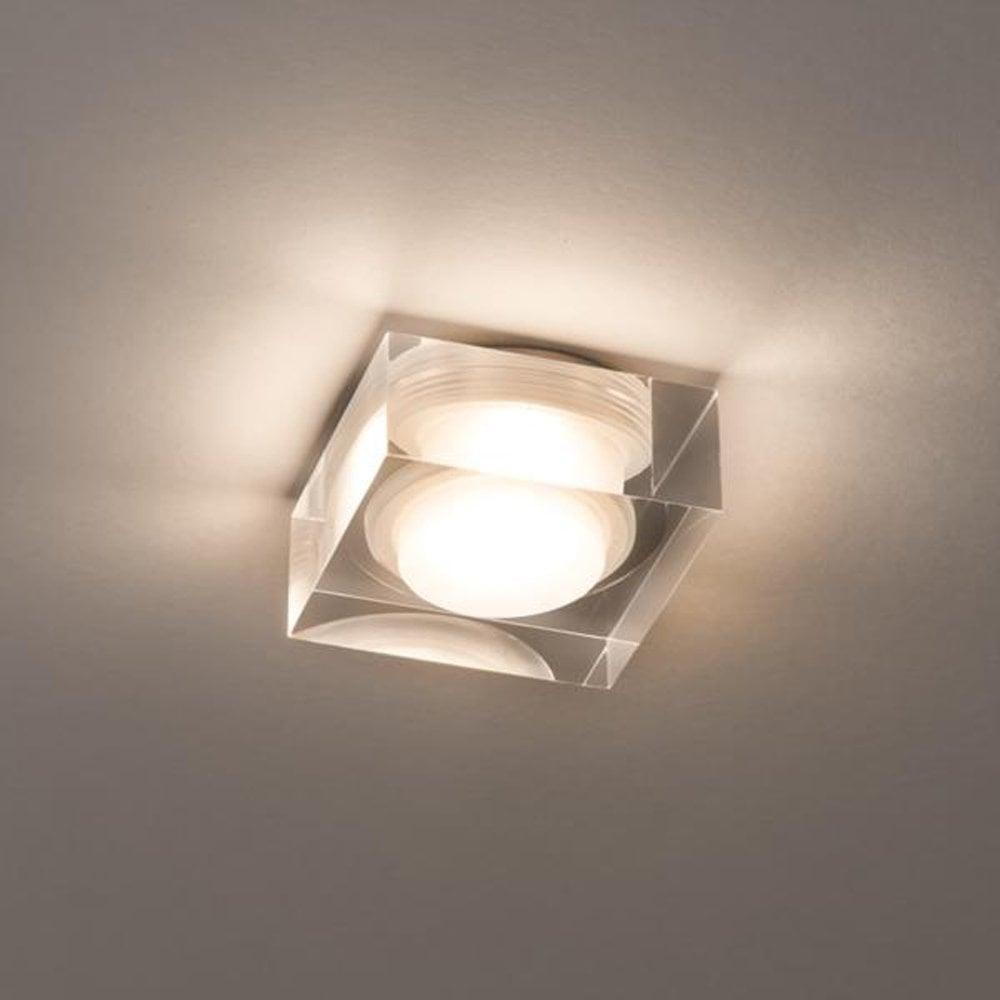 Astro Vancouver 90 Square Glass Flush Bathroom Ceiling Light 5698