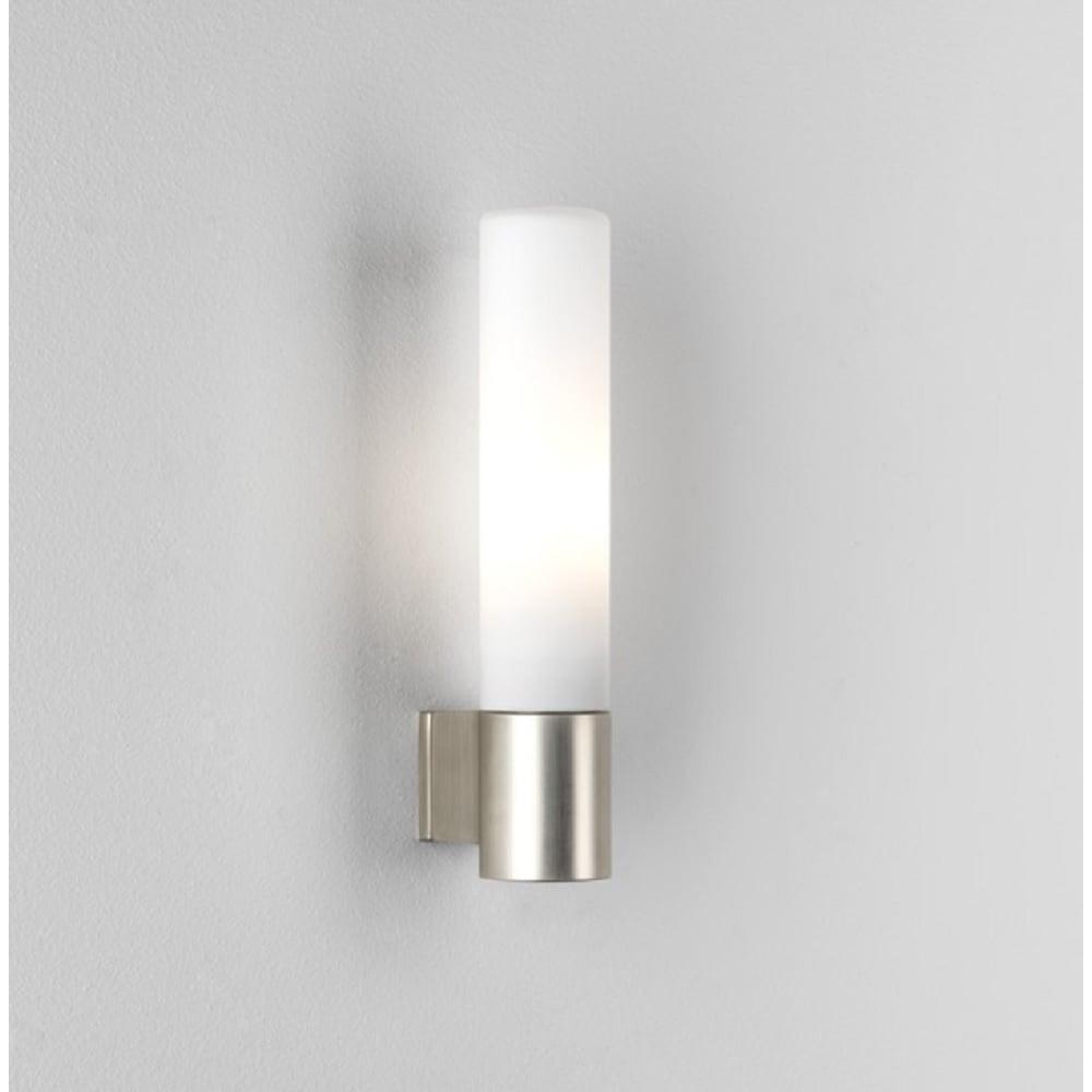 Astro Lighting Bari Bathroom Wall Light In Matt Nickel Finish With - Bathroom wall sconce with shade