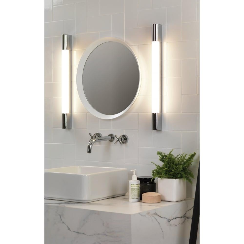 Led Bathroom Centre Light astro lighting bathroom led wall light in polished chrome finish