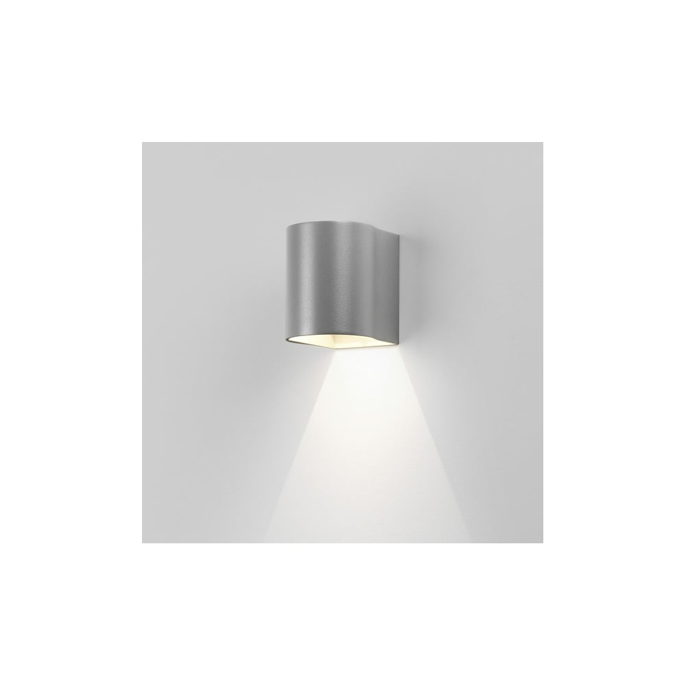 Dunbar LED 100 Contemporary Outdoor Wall Light In Painted Silver Finish 8059  sc 1 st  The Home Lighting Centre & Astro Lighting Dunbar LED 100 Contemporary Outdoor Wall Light In ...