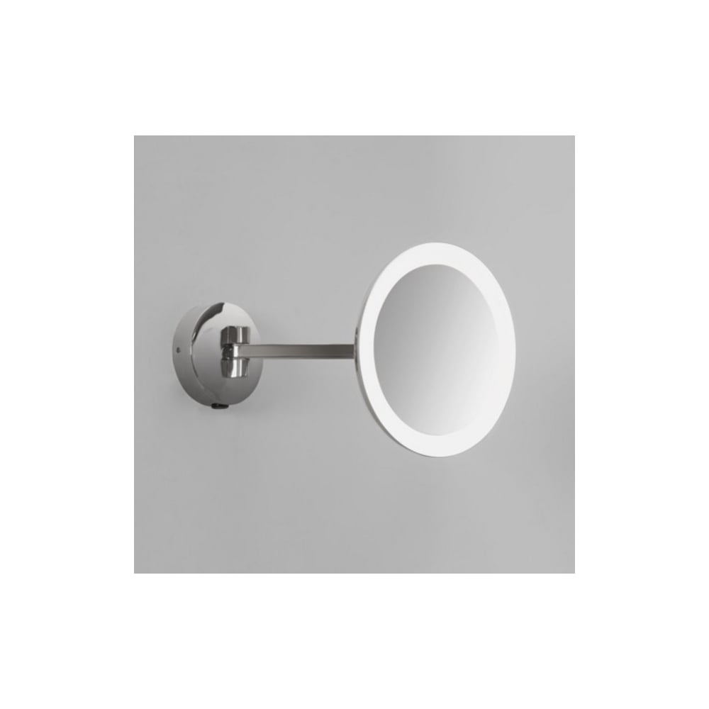 Astro Lighting Magnifying Wall Mirror In Polished Chrome Finish ...