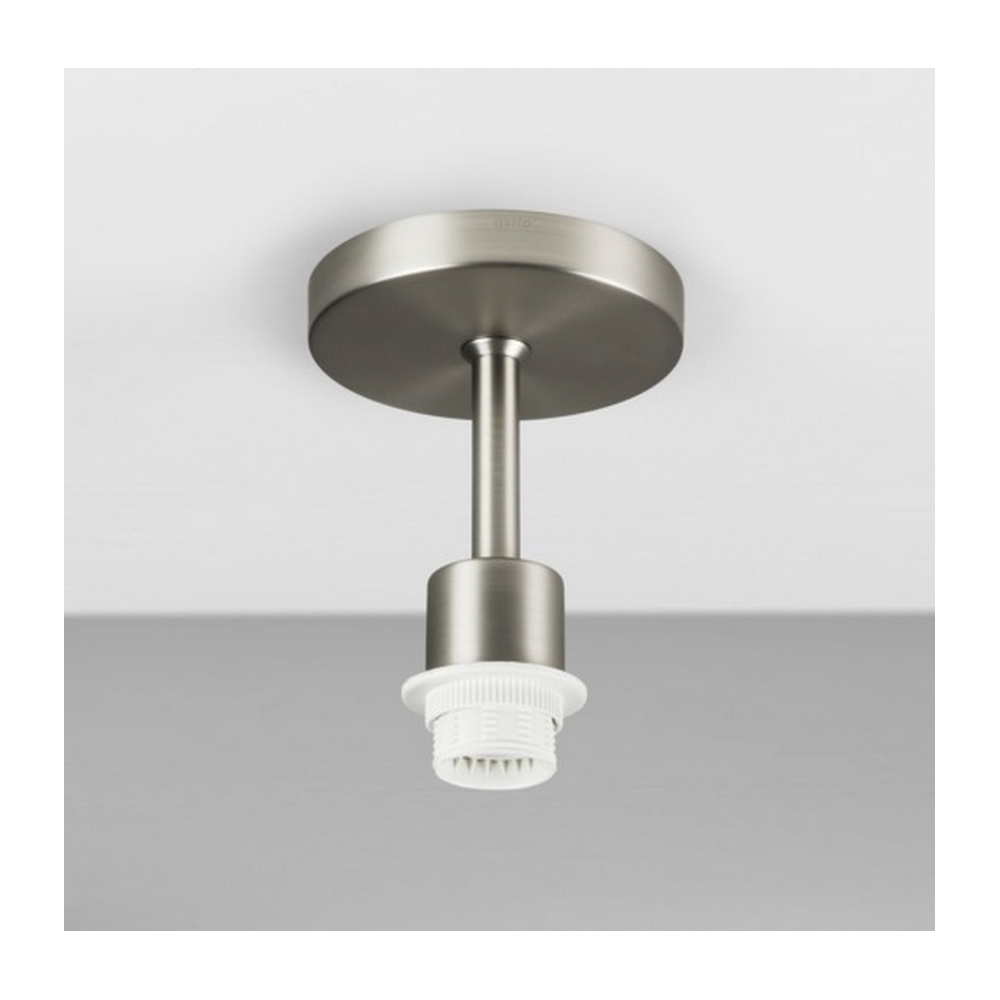 Malerisch Nickel Matt Foto Von Semi H Ceiling Light With Oyster Shade