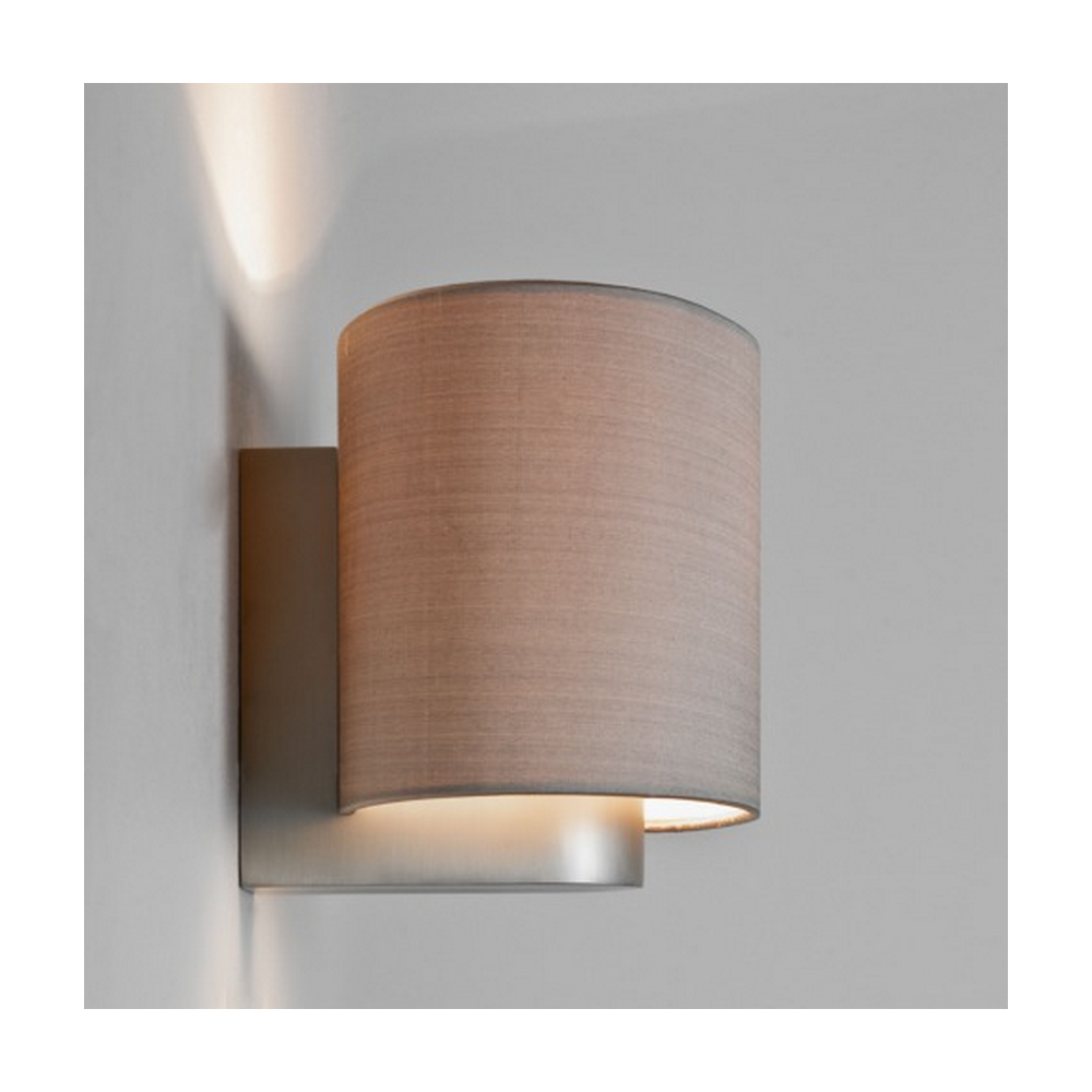 Bezaubernd Nickel Matt Beste Wahl Napoli Contemporary Wall Light With Oyster Shade