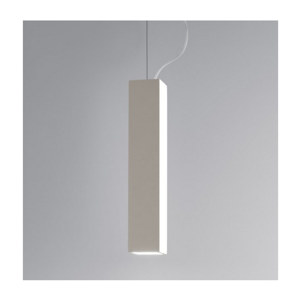 Osca Modern Square Ceiling Pendant Light In Plaster Finish 7387