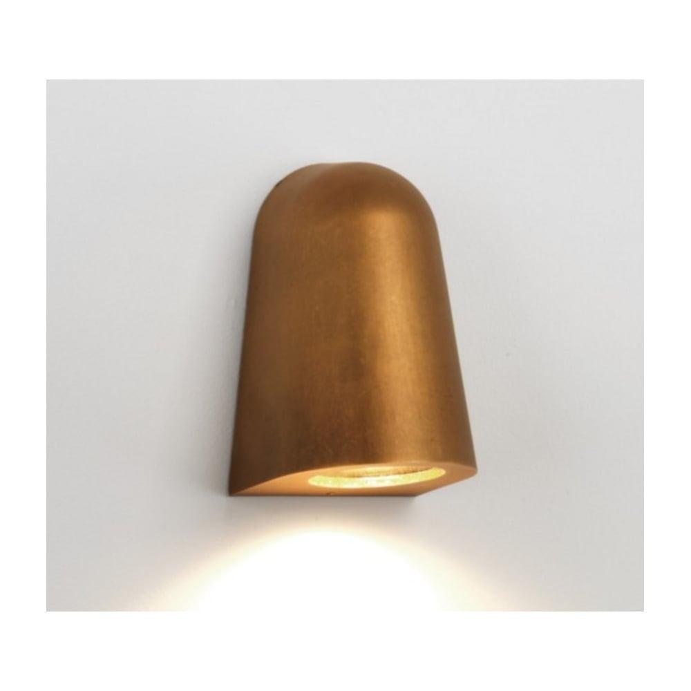 Astro lighting outdoor ip65 wall light in antique brass finish mast outdoor ip65 wall light in antique brass finish mast light 7836 aloadofball Gallery