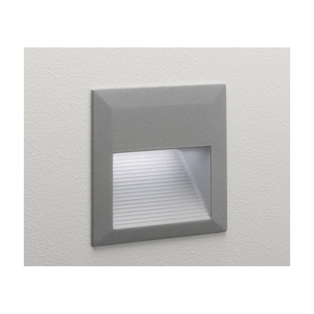 Outdoor Wall Light In Painted Silver Finish IP44 TECLA 7835