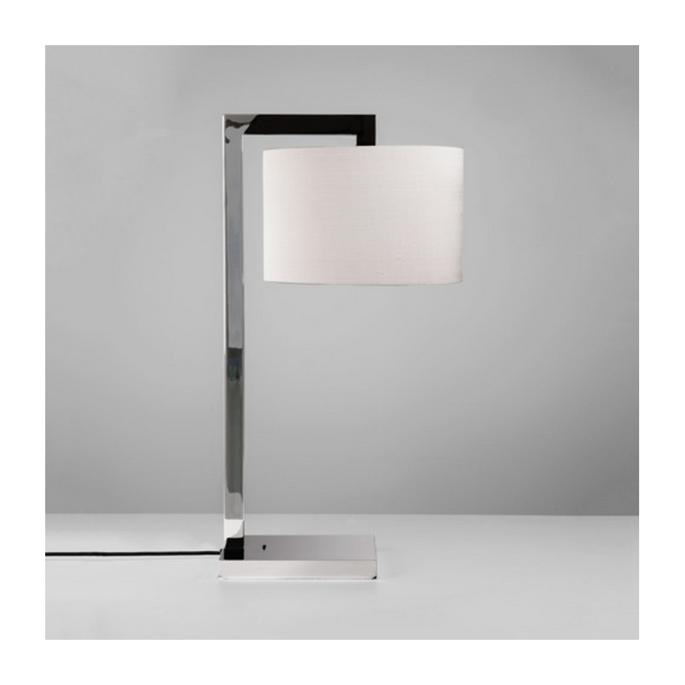 Astro lighting ravello polished chrome table lamp with white shade ravello polished chrome table lamp with white shade 4554 4093 aloadofball Gallery