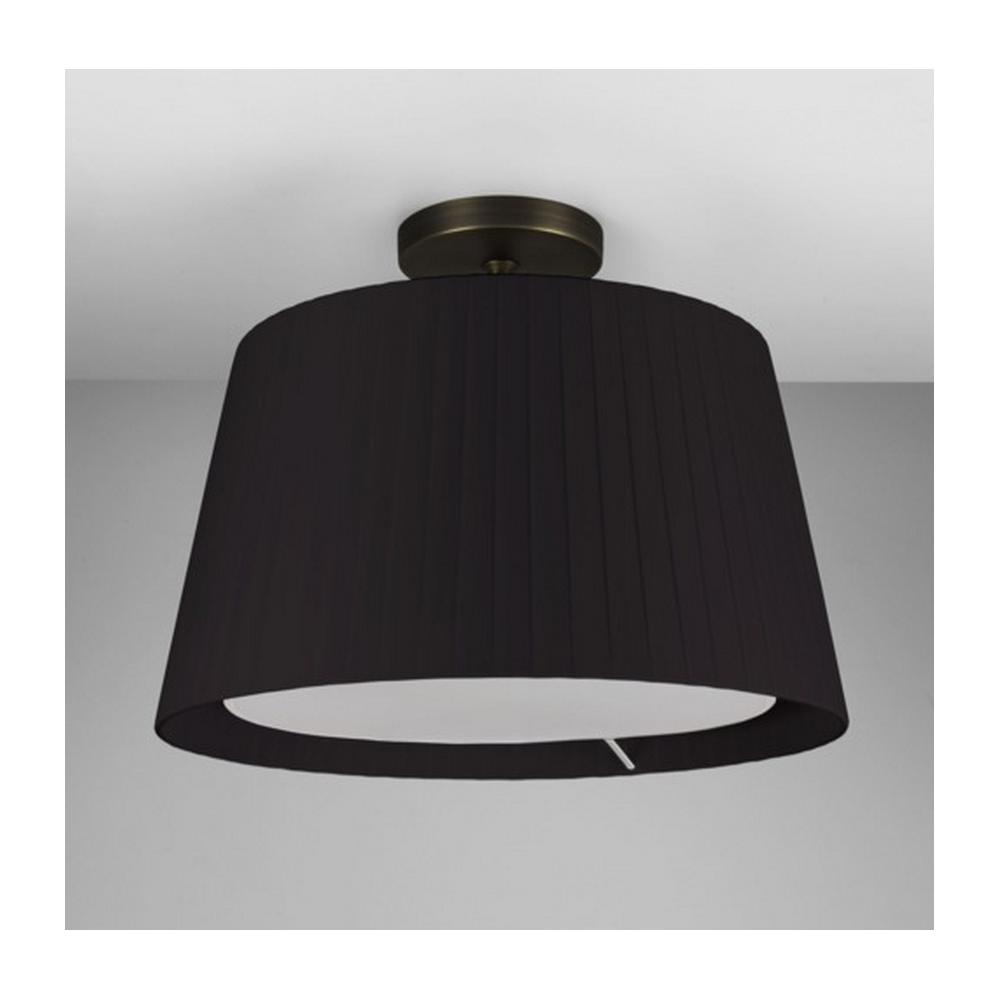 astro lighting semi flush ceiling light in bronze with black shade