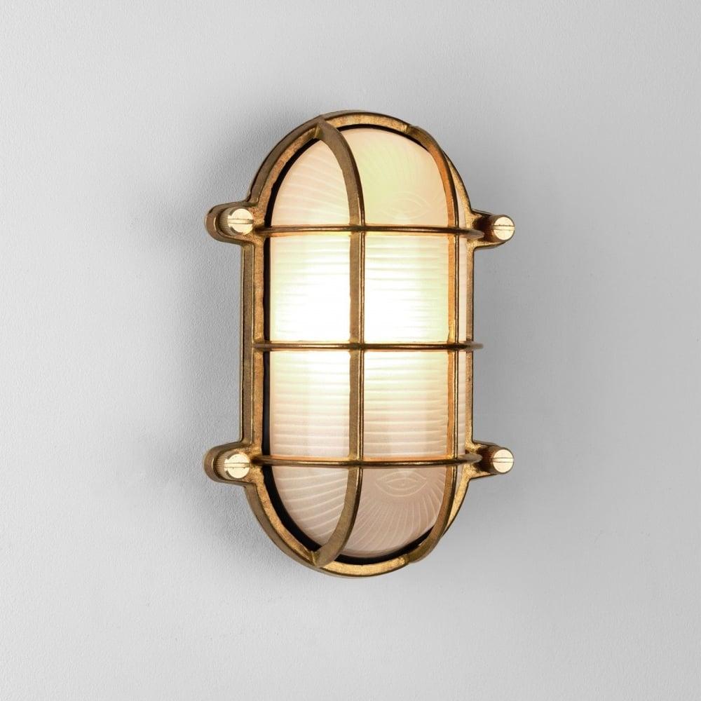 Astro lighting thurso oval outdoor flush light in natural brass thurso oval outdoor flush light in natural brass finish ip44 7881 aloadofball Images