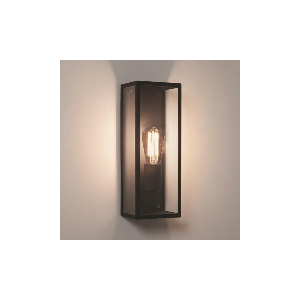 Astro lighting astro messina 130 outdoor black wall for Outdoor glass wall panels