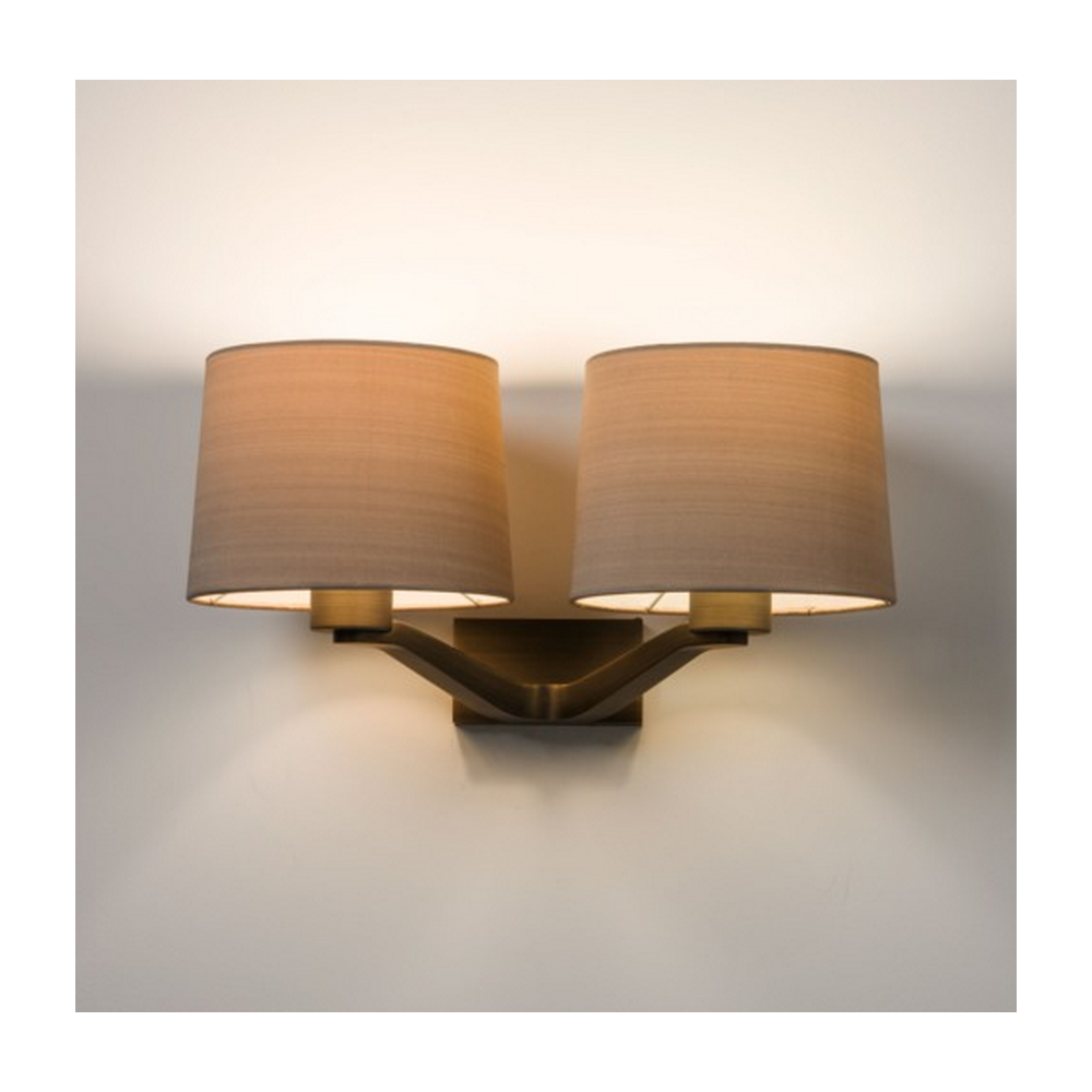 Twin Fixed Wall Lights : Astro Lighting Astro Montclair Twin Bronze Wall Light with Oyster Shade 7479 + 4064 - Lighting ...