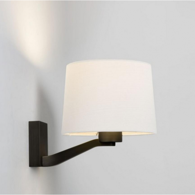 Astro Lighting Astro Montclair Wall Light in Bronze Finish with White Shade 7476 + 4049 ...