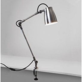 Atelier Industrial Desk Lamp with Clamp in Polished Aluminium Finish 4559 + 4568