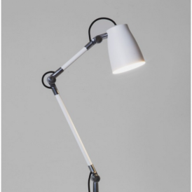 Atelier Industrial Desk Lamp with Clamp in White Finish 4560 + 4568