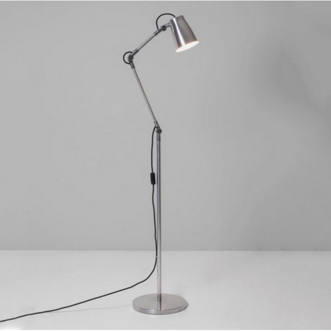 Astro Lighting Atelier Industrial Floor Lamp in Polished Aluminium Finish 4559 + 4565