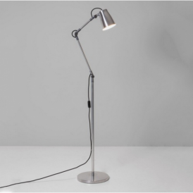 Atelier Industrial Floor Lamp in Polished Aluminium Finish 4559 + 4565