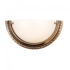 Athens Classic Wall Light in Antique Copper Finish 61238
