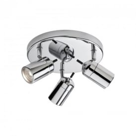 Atlantic Chrome Triple Bathroom Ceiling Spotlight IP44
