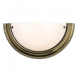 Atlas Classic Wall Light in Antique Brass Finish 61237