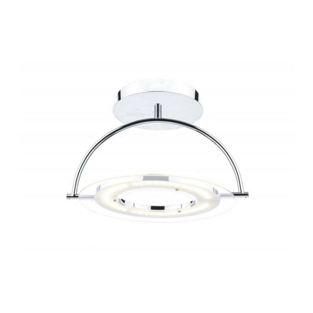 Semi flush ceiling lights chrome : Atom led semi flush ceiling light in chrome ato