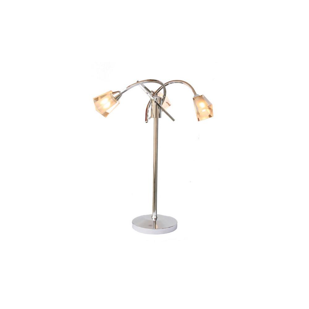 Aus4050 austin 3 light polished chrome table lamp for Table lamps austin tx
