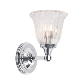Austen Bathroom Wall Light In Polished Chrome Finish BATH/AUSTEN1 PC