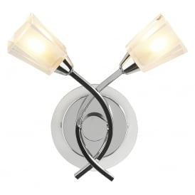 Austin 2 light Wall Light in Chrome Finish AUS0950