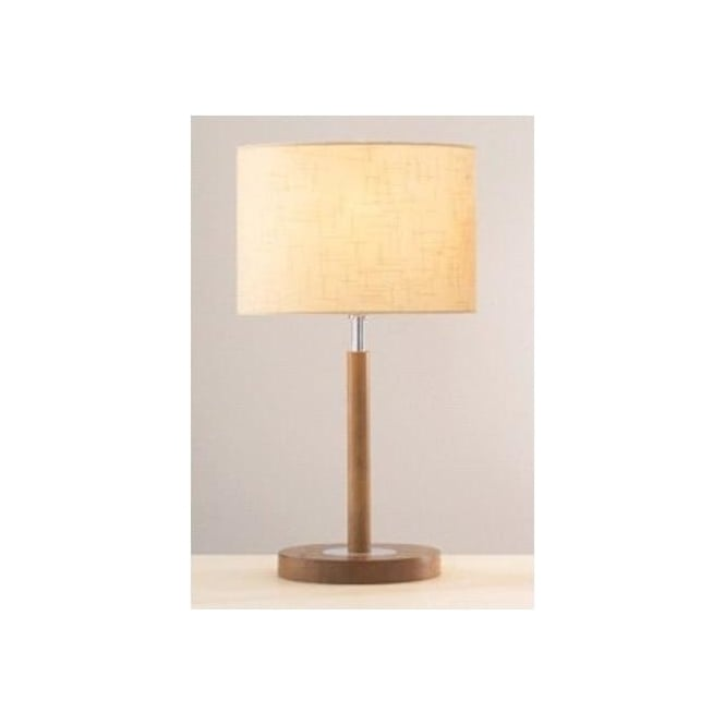 Dar Lighting AVE4043 Avenue Light Wood Table Lamp with Shade