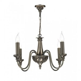 BAI0463 Bailey 4 Light Bronze Multi Arm Traditional Hanging Ceiling Pendant