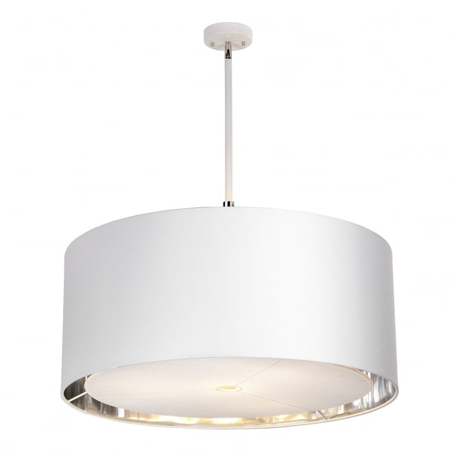 Balance Large Ceiling Pendant In White And Polished Nickel Finish BALANCE/P XL WPN