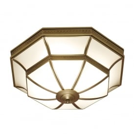 Balfour Stylish 4 Light Flush Ceiling Fitting In Antique Brass Finish SN02FL47