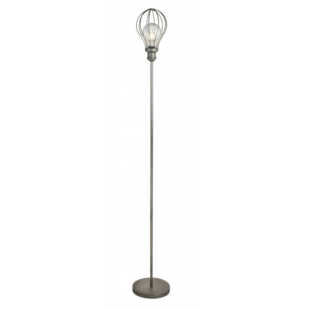 Balloon Modern Chrome Metal Floor Lamp