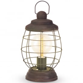Bampton Vintage Table Lamp In Patina Brown Finish 49288