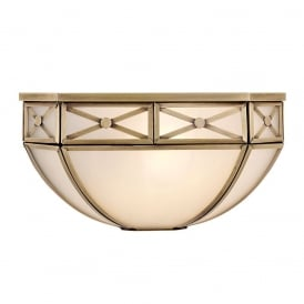 Bannerman Classic Single Wall Light In Antique Brass Finish With Frosted Glass SN04W