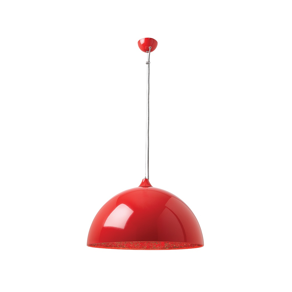 Bardem re 1 light mirror mosaic semi sphere red pendant lighting from the home lighting centre uk