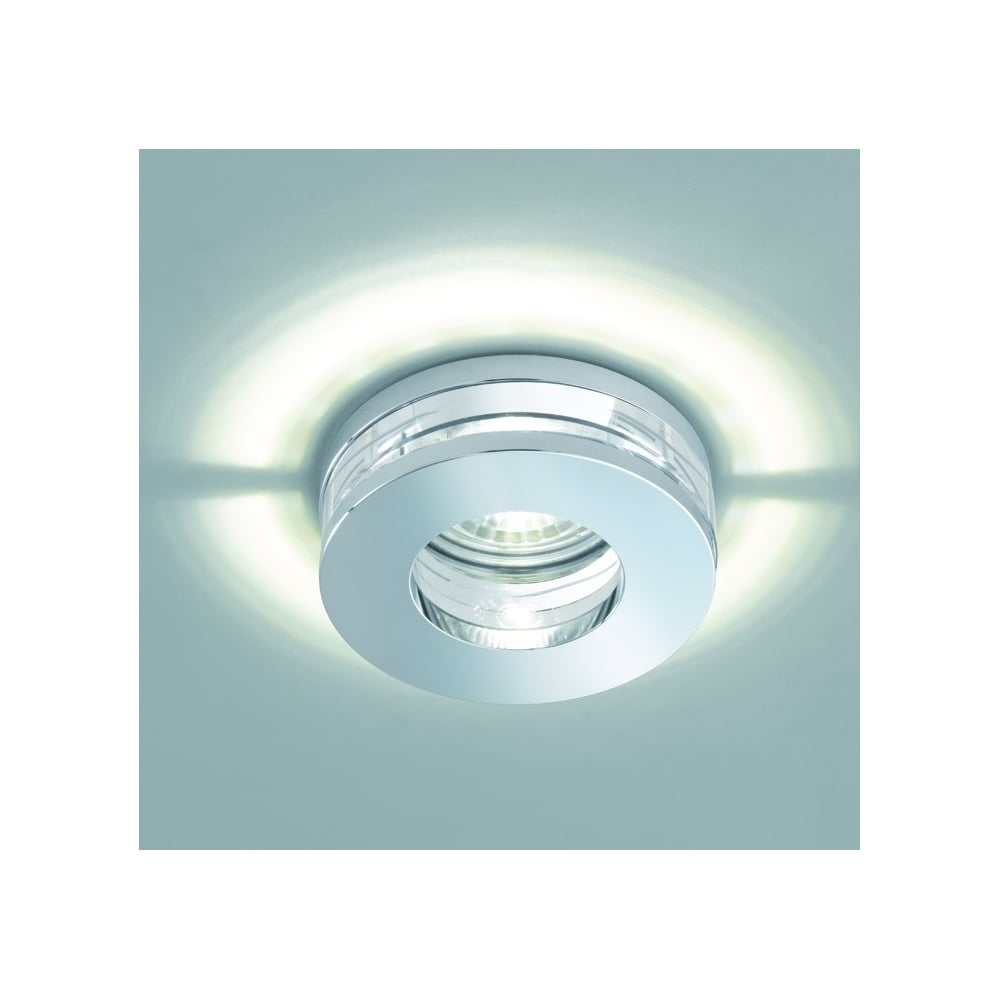 Franklite lighting bathroom crystal glass recessed led downlight in chrome finish rf310 lighting from the home lighting centre uk