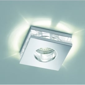 Bathroom Crystal Glass Recessed LED Downlight In Chrome Finish RF311