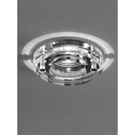 Bathroom Round Crystal Glass Downlight Spotlight in Chrome Finish RF308