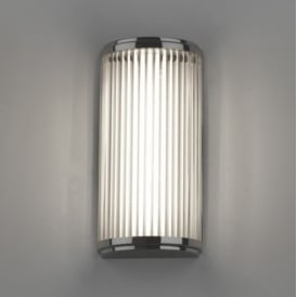 Bathroom Small Wall Light In Polished Chrome with Glass Shade VERSAILLES 7837
